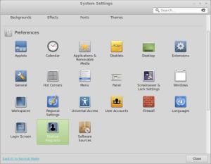Mint System Settings - Autostart