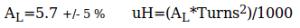 Empirical formula for T68-2 toroid inductance