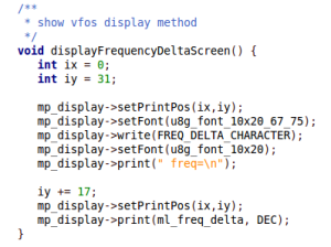 Example of display function used with U8glib