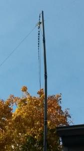 Sad remains of old mast