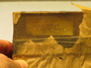 Wax covered label