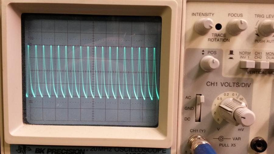 Output waveform on 80M after mod