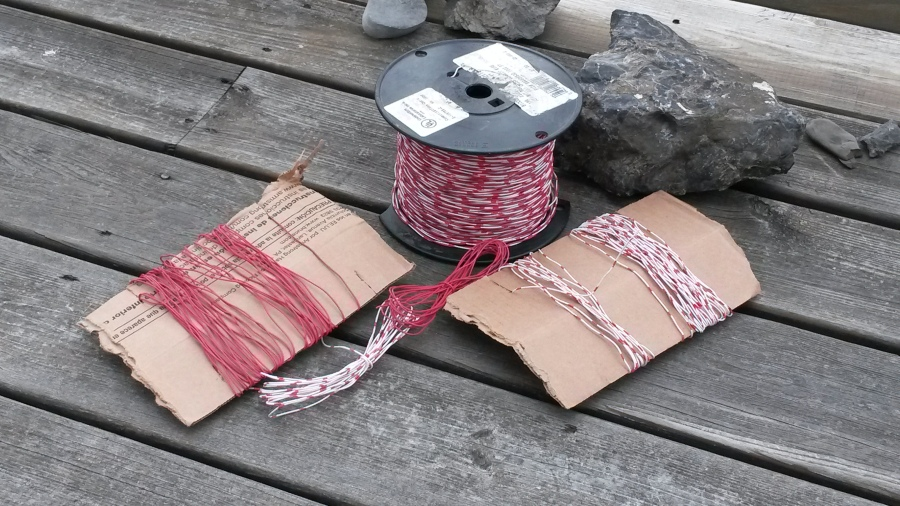A large quantity of cheap twisted-pair, and the Method of Two Cardboard Bobbins