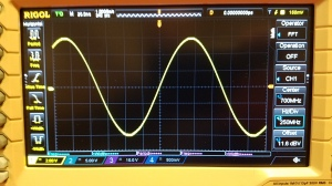 Pristine signal, post low pass filter