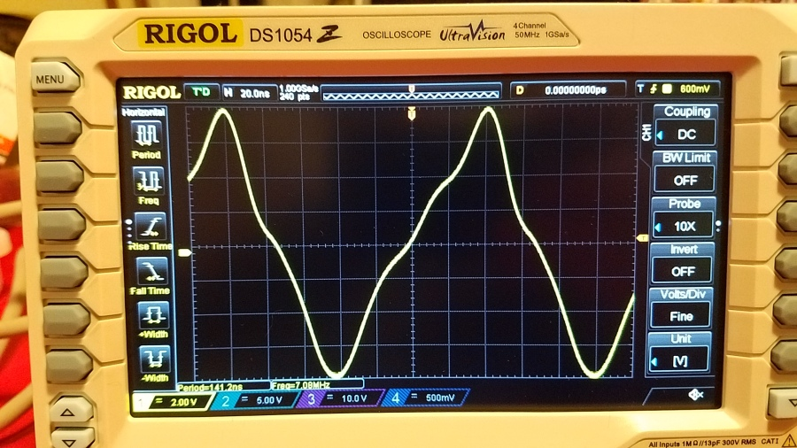 Very not good looking transmitter output, before filter