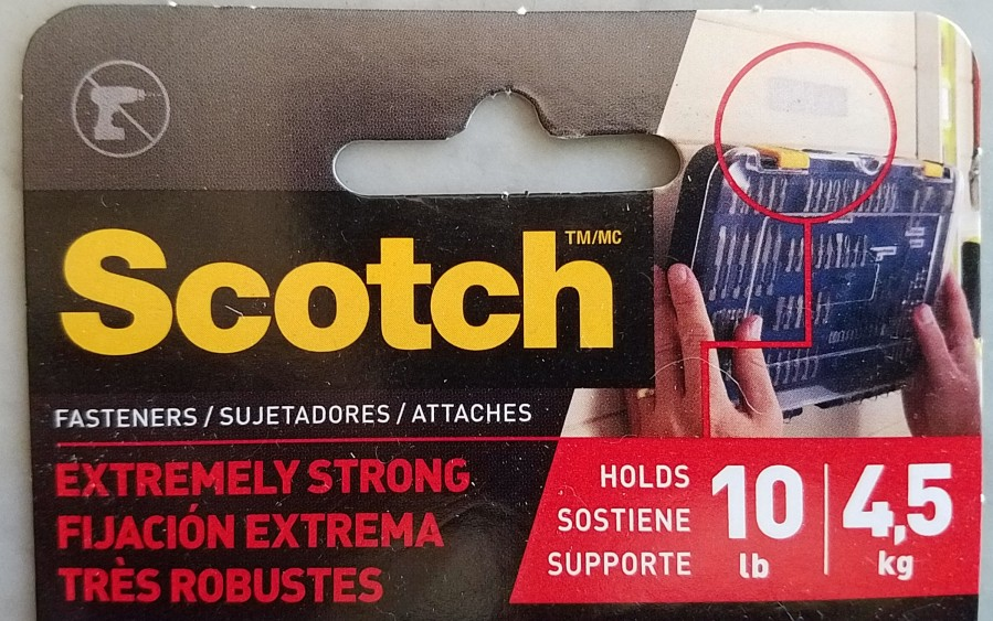"Scotch ""Extermely Stong"" fastener"